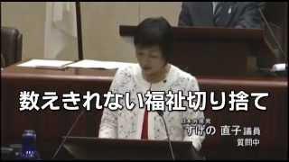 仙台市議会 すげの直子議員の一般質問