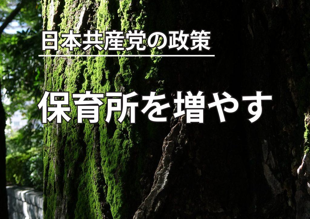 【動画】保育所を増やす 日本共産党の政策