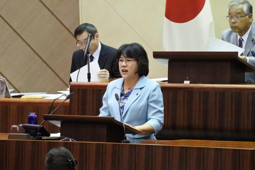 ふるくぼ和子議員の代表質疑(要旨)