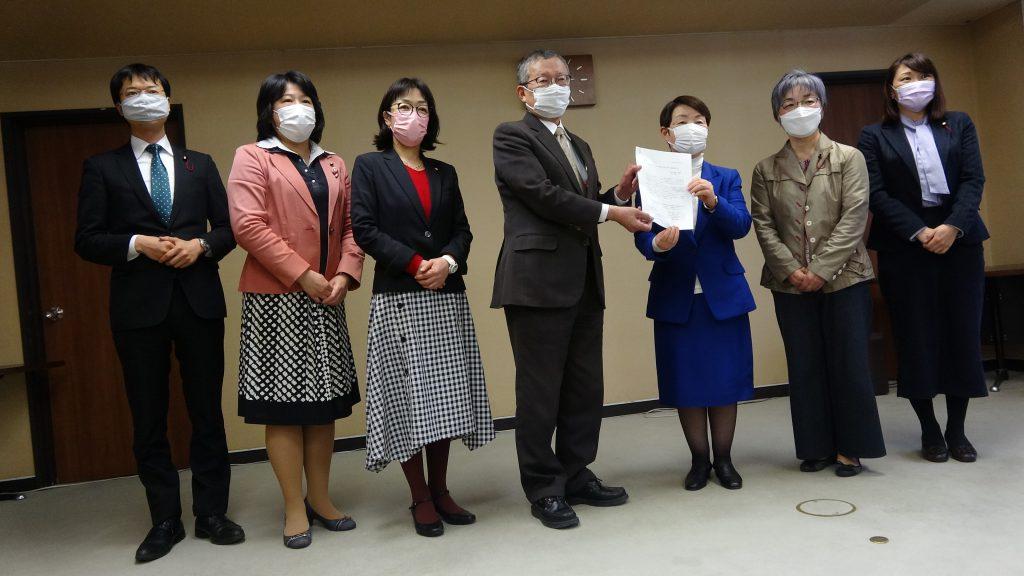【動画】「まん延防止重点措置」適用 市議団が緊急要望28項目 仙台市へ4月9日