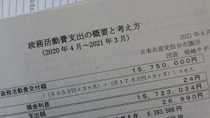 政務活動費の支出の概要をご覧ください(各年度)
